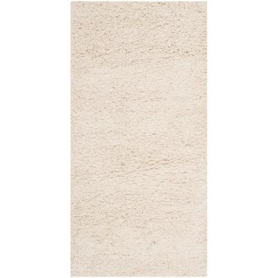 Milan Shag Ivory 2 ft. x 4 ft. Area Rug