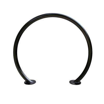 2-Bike Black Powder Coated Action Circle Surface Mount Bike Rack