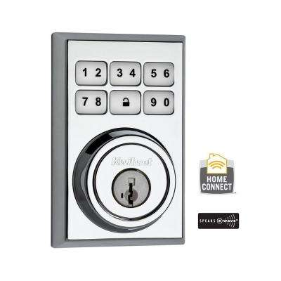 Z-Wave SmartCode 910 Contemporary Polished Chrome Single Cylinder Electronic Deadbolt featuring SmartKey