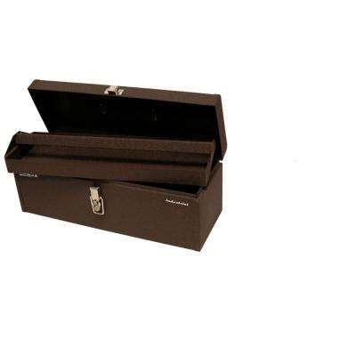 Industrial 20 in. Steel Tool Box in Brown Wrinkle
