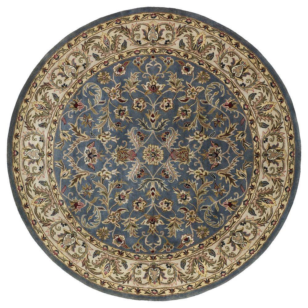 Kaleen Mystic William Blue 9 Ft X Round Area Rug