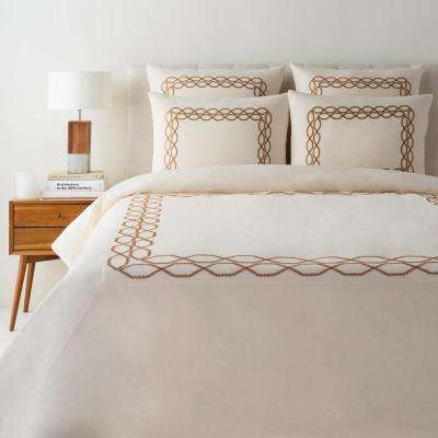Irina Cream Full/Queen Duvet Set