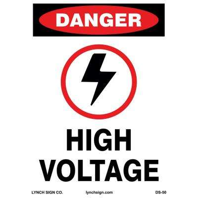 10 in. x 14 in. High Voltage Sign Printed on More Durable, Thicker, Longer Lasting Styrene Plastic