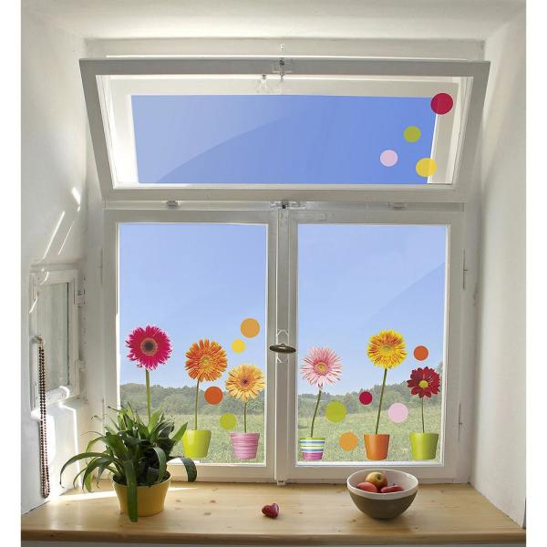 Brewster 24 4 In X 12 2 In Gerberas Flowers Window Decals Cr 64003 The Home Depot