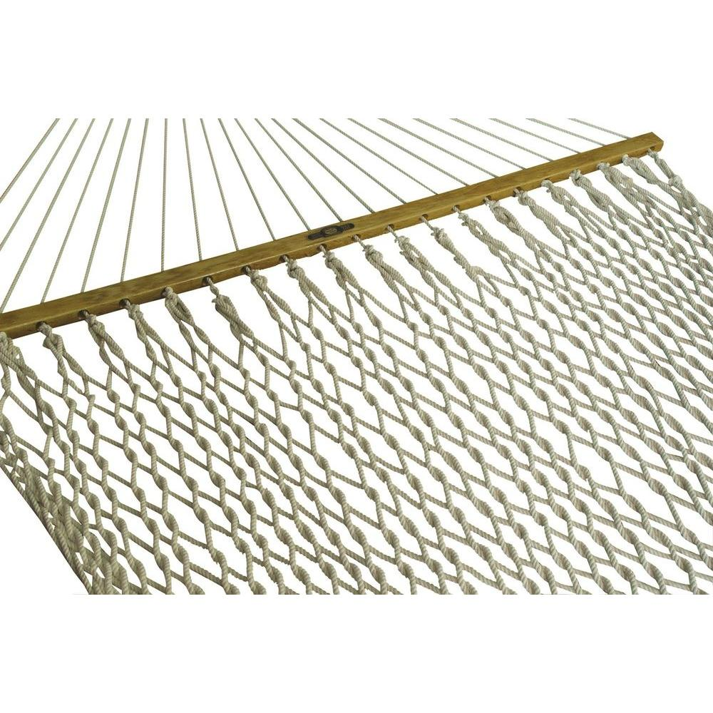 Medium image of presidential cotton patio rope hammock in white