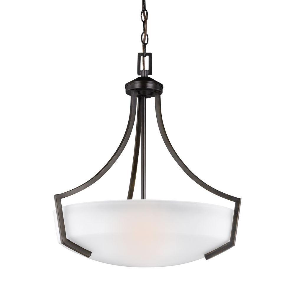 Sea Gull Lighting Hanford 3-Light Burnt Sienna Pendant