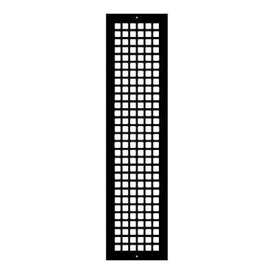 Square Series 30 in. x 6 in. Steel Grille, Black with Mounting Holes