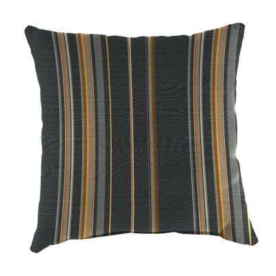 Sunbrella Stanton Greystone Square Outdoor Throw Pillow