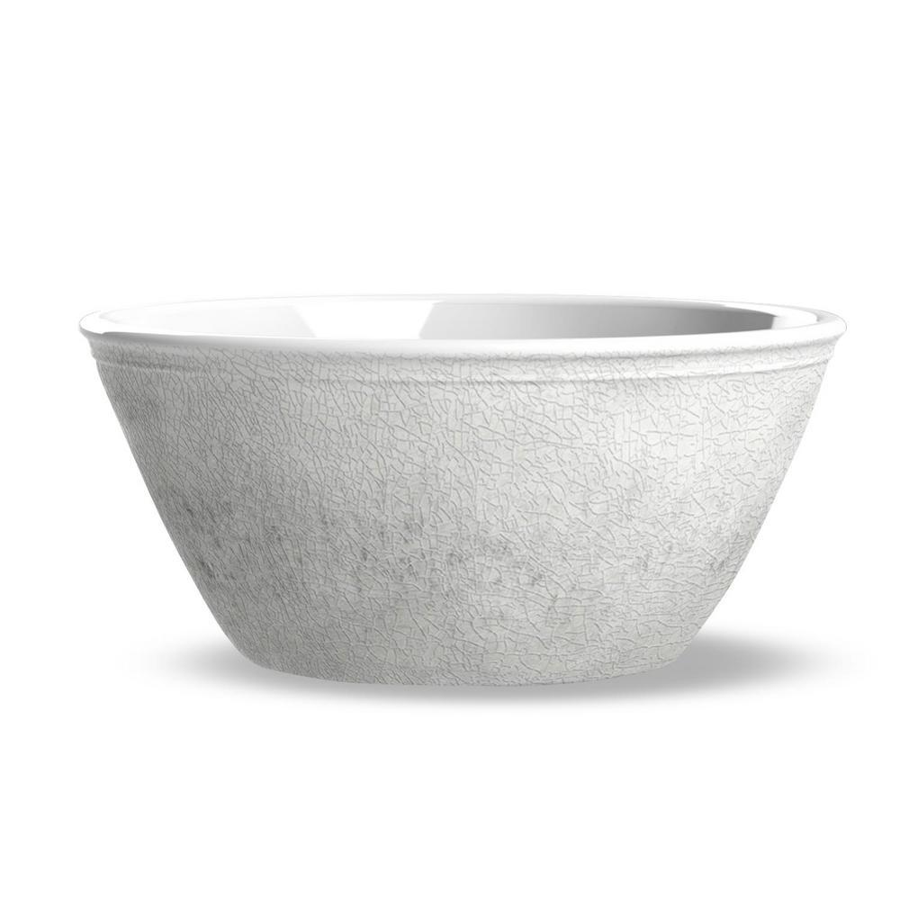 Potters Reactive Glaze Bowl White (Set of 6)