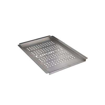 13 in. x 8 in. Stainless Steel Grilling Platter