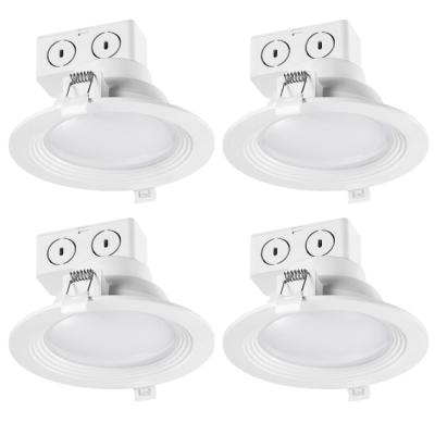 5 in. 3000K White New Construction and Remodel Integrated LED Recessed Lighting Kit (4-Pack)