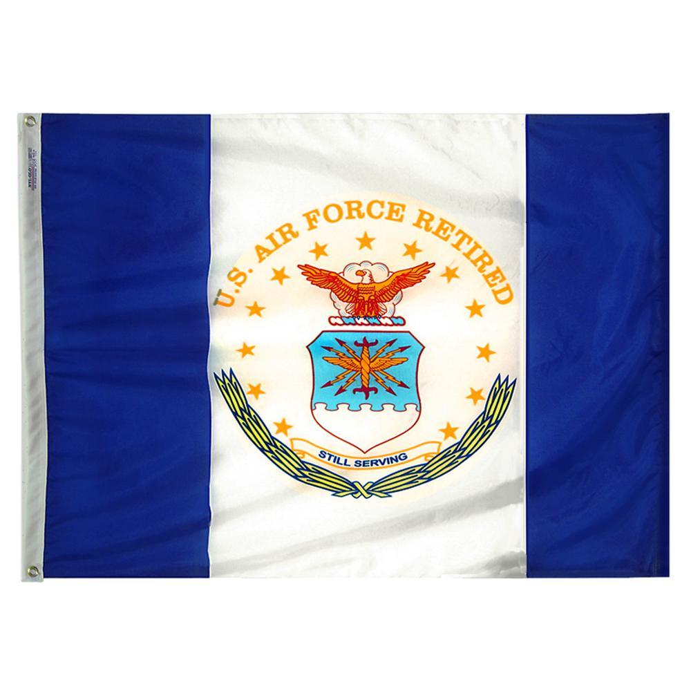 7b5a5352a83 Annin Flagmakers 3 ft. x 4 ft. Nylon U.S. Air Force Retired Armed ...