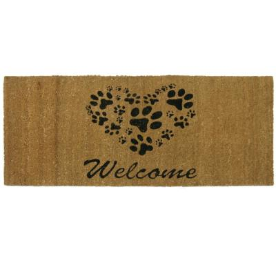 Heart Shaped Paws 24 in. x 57 in. Welcome Mat
