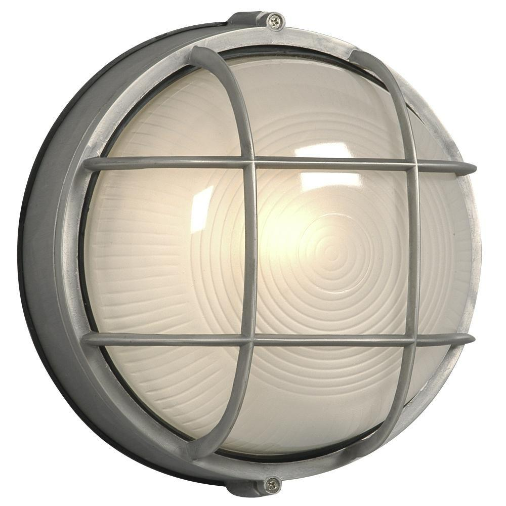 Filament Design Negron 1-Light Outdoor Satin Aluminum Wall Light