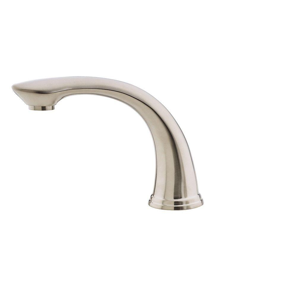 Pfister Avalon 2-Handle Deck-Mount Roman Tub Faucet Trim Kit in Brushed Nickel (Valve and Handles Not Included)