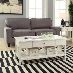 Mission White Coffee Table by