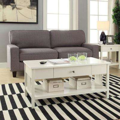 Mission White Coffee Table