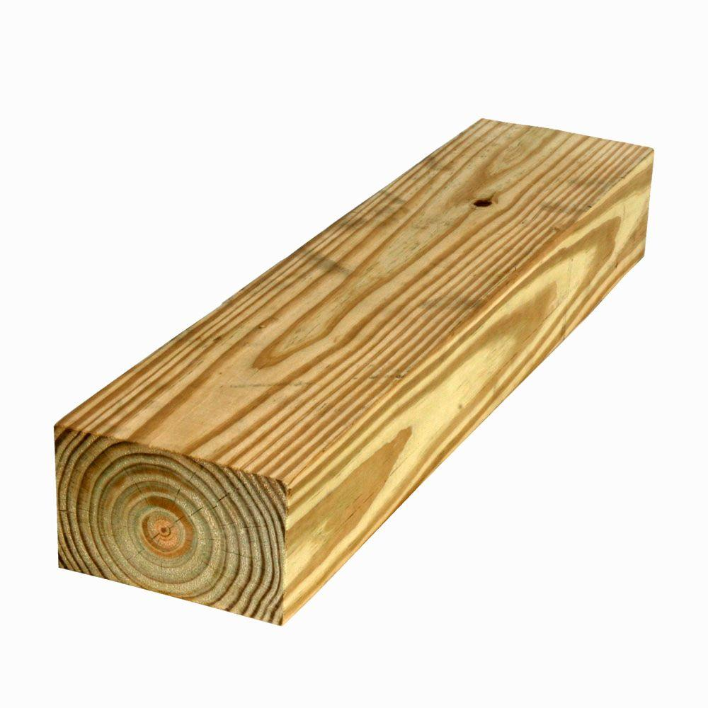 4 in  x 6 in  x 16 ft  #2 Pressure-Treated Timber