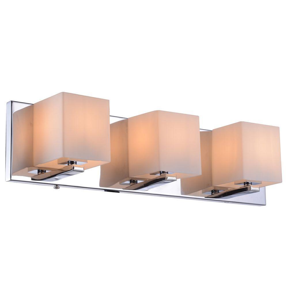 Trinket Collection 3-Light Chrome Wall Vanity Light