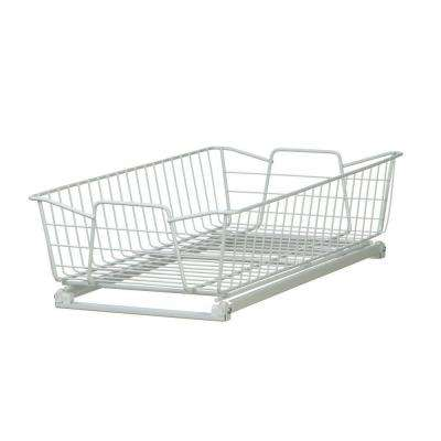 5.25 in. x 11 in. x 20 in. White Wire Cabinet Organizer