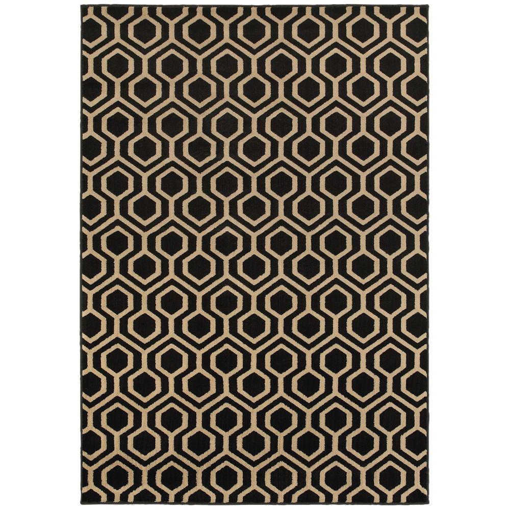 Home Decorators Collection Langley Geo Black 1 Ft 10 In: home depot decor