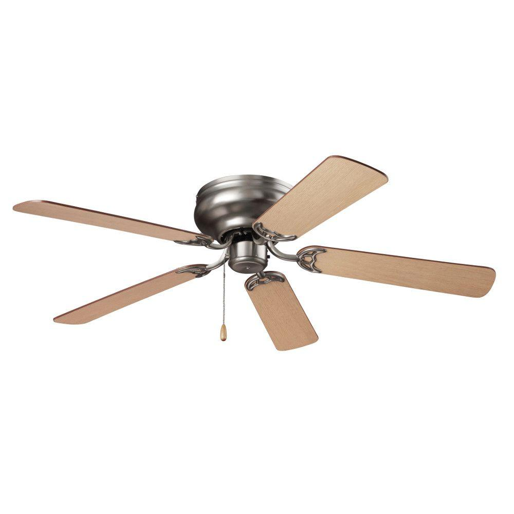 Hugger Ceiling Fans Without Light: NuTone Hugger Series 52 In. Indoor Brushed Steel Ceiling