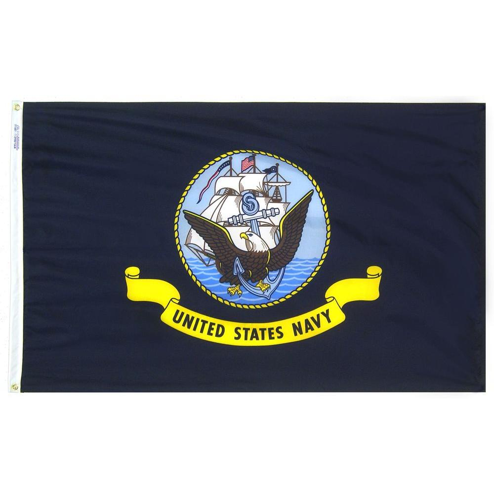 6a2093bc2fec Annin Flagmakers 3 ft. x 5 ft. U.S. Navy Armed Forces Flag-439030 ...