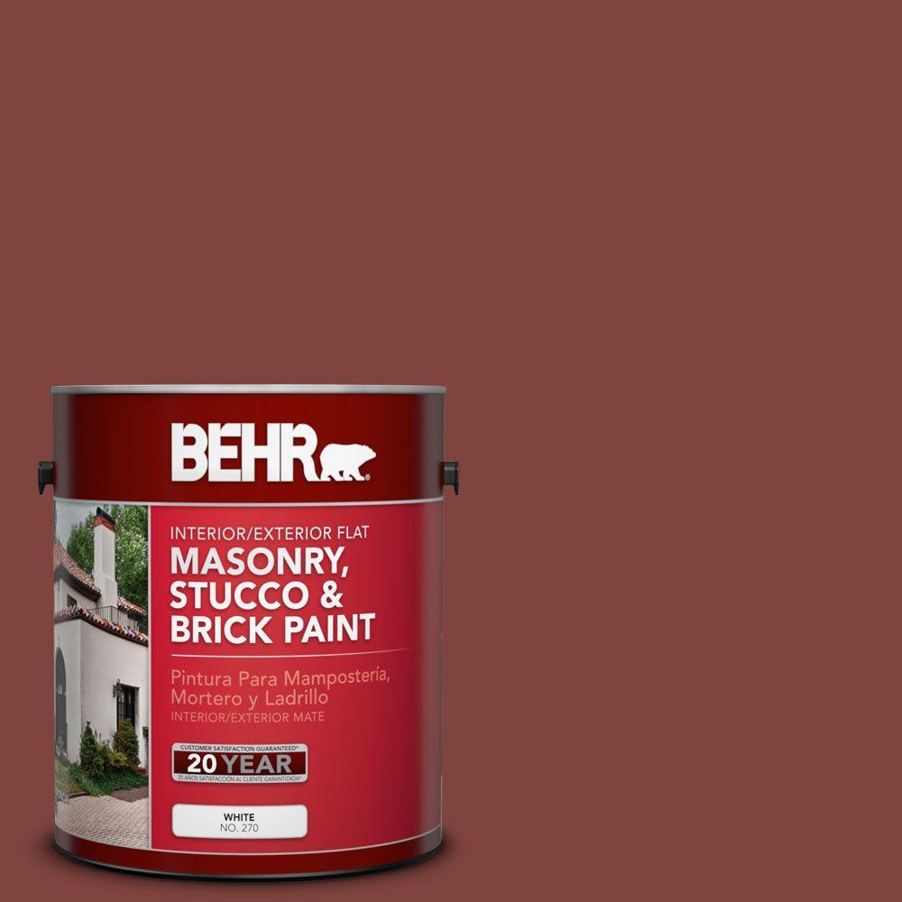 1-gal. #MS-06 Matador Flat Interior/Exterior Masonry, Stucco and Brick Paint