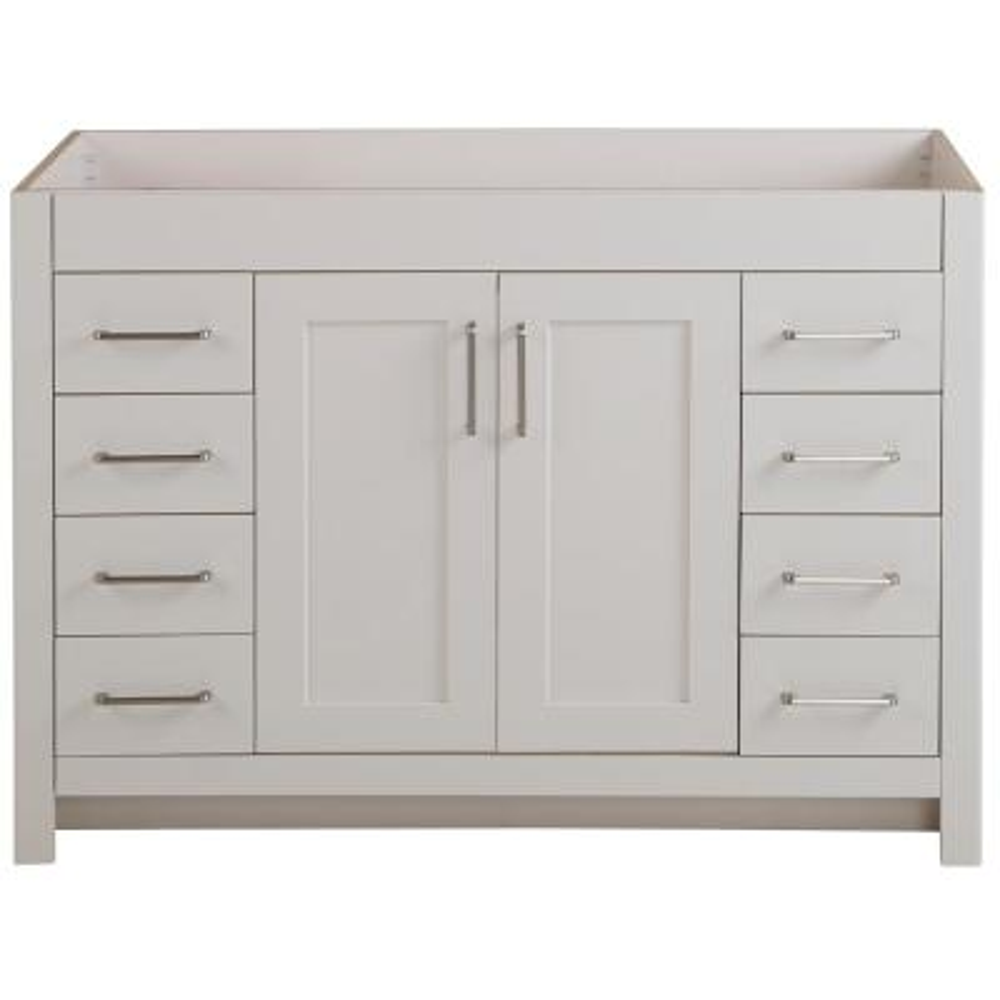 Westcourt 48 in. W x 21 in. D x 34 in. H Bath Vanity Cabinet Only in Cream