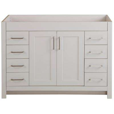 Westcourt 48 in. W x 21 in. D x 34 in. H Bath Vanity Cabinet Only in Cream