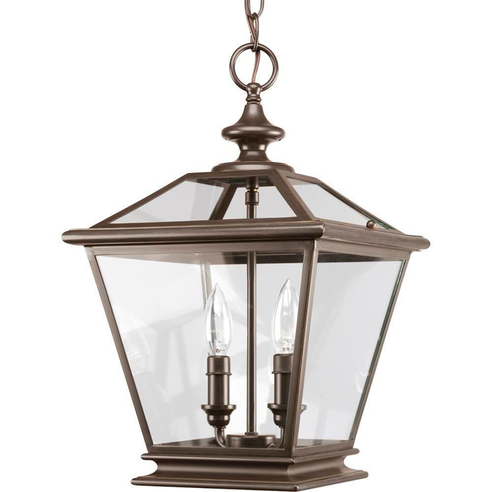 Crestwood Collection 2-Light Antique Bronze Foyer Pendant