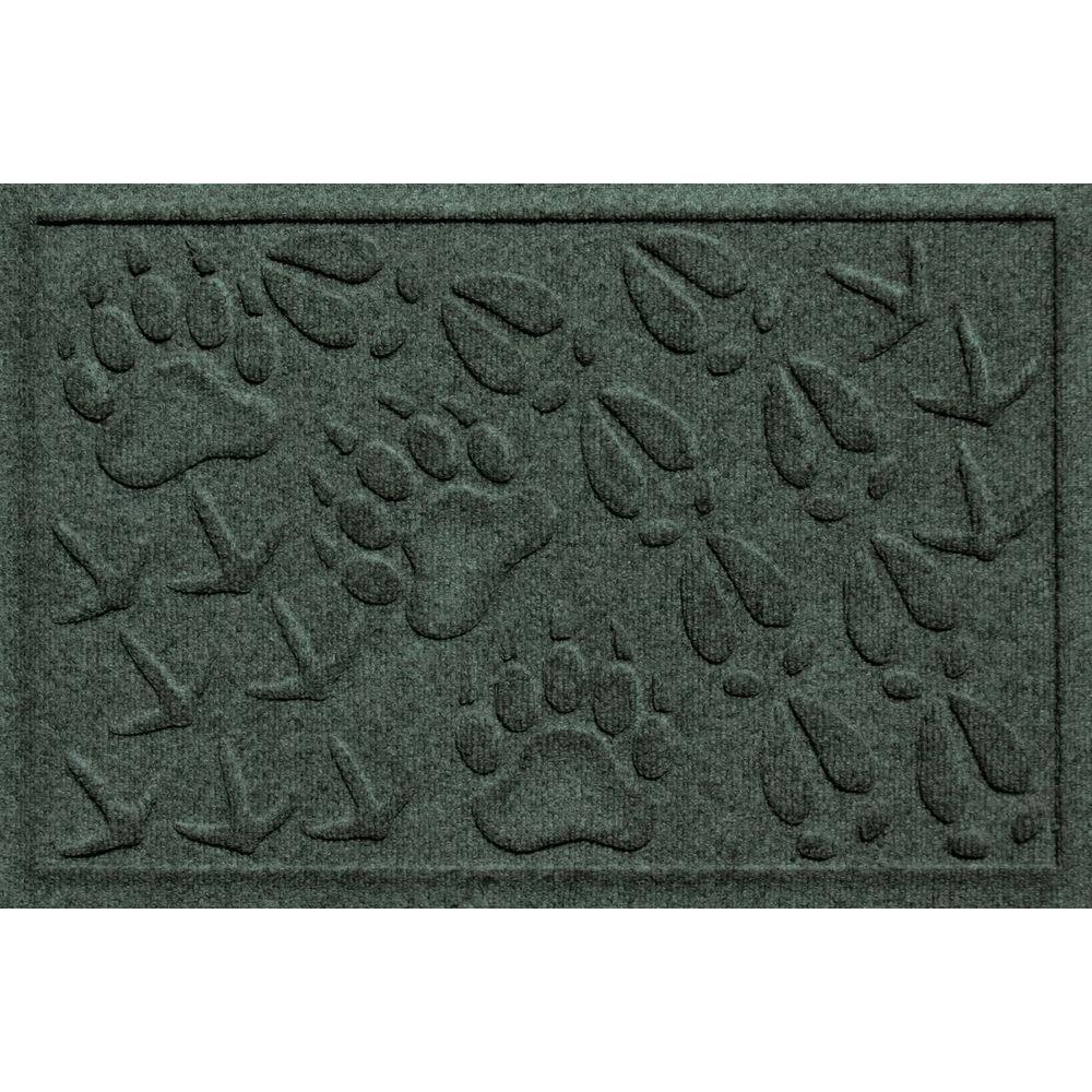 Aqua Shield Animal Tracks Evergreen 17.5 in. x 26.5 in. Door Mat