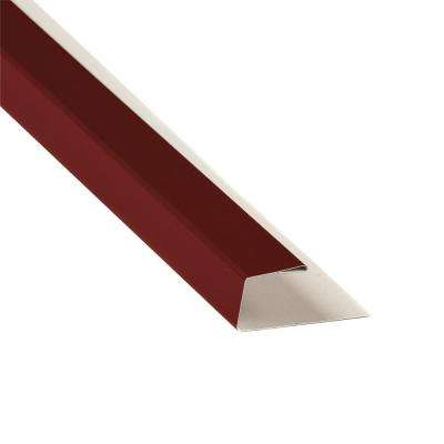 5 in. x 10.5 ft. J-Channel Drip Edge Flashing in Red