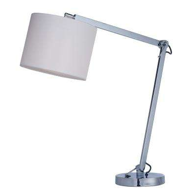 Hotel 19 in. Tall Polished Chrome Table Lamp