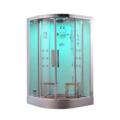 47.2 in. x 47.2 in. x 89 in. Steam Shower Enclosure Kit in White