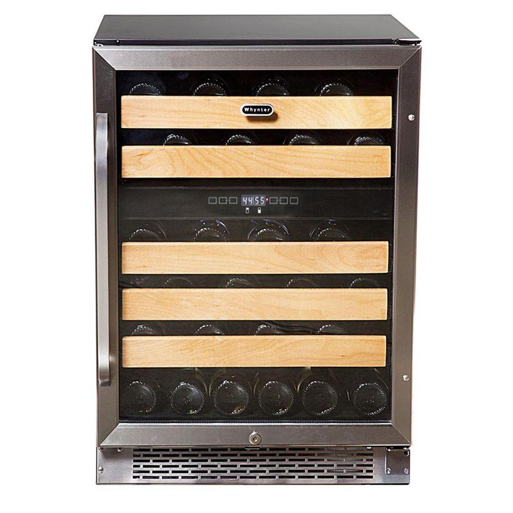 Whynter 46 Bottle Dual Temperature Zone Built In Wine