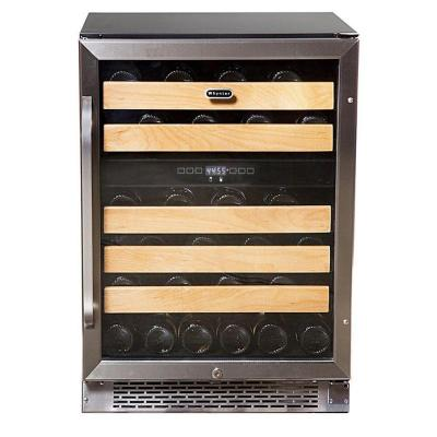 46-Bottle Dual Temperature Zone Built-In Wine Refrigerator