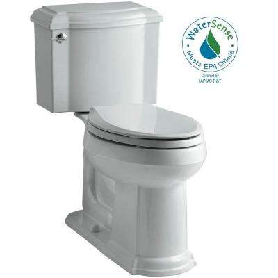 Devonshire 2-piece 1.28 GPF Single Flush Elongated Toilet with AquaPiston Flush Technology in Ice Grey
