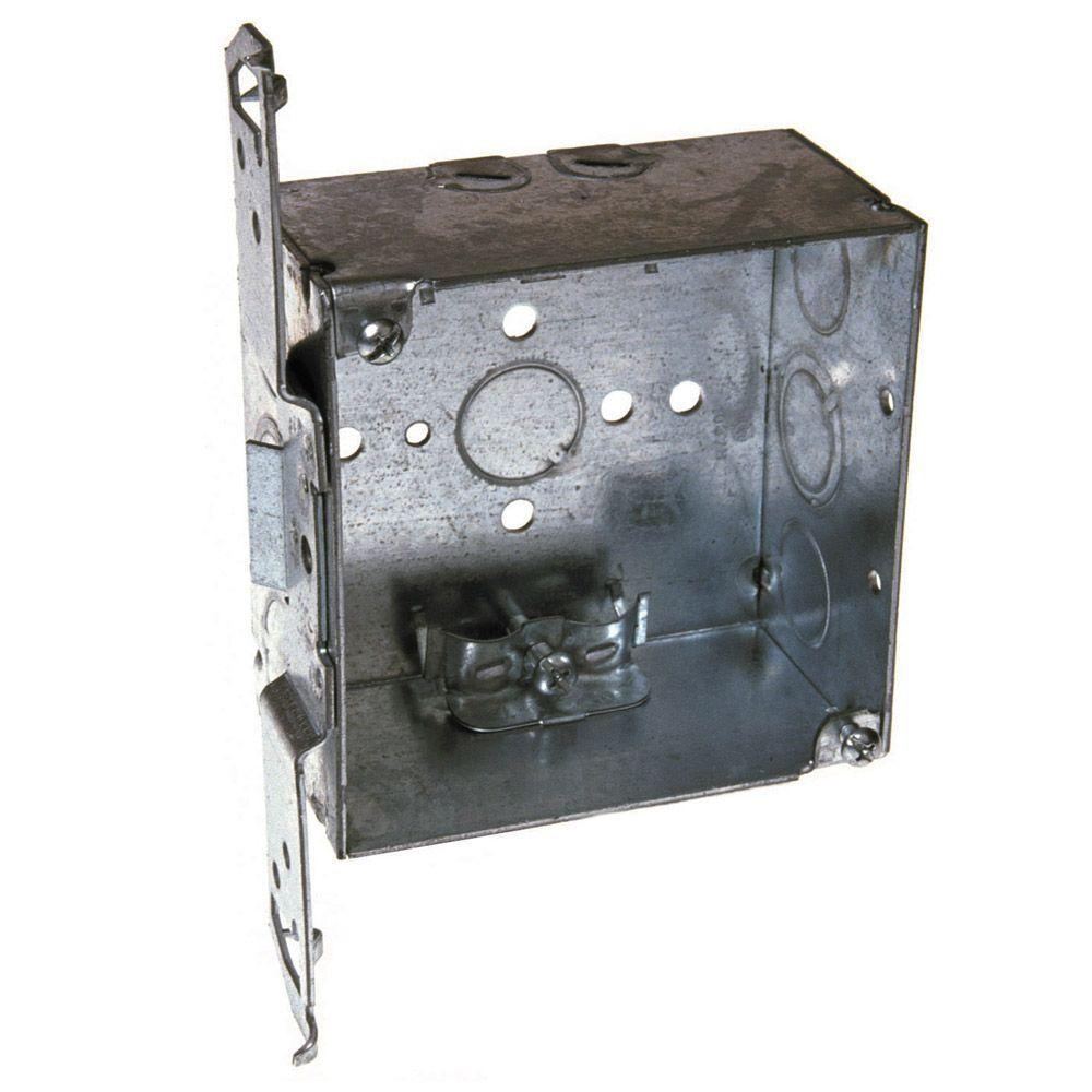 4 in. Welded Square Electrical Box, NMSC Clamps and Bracket