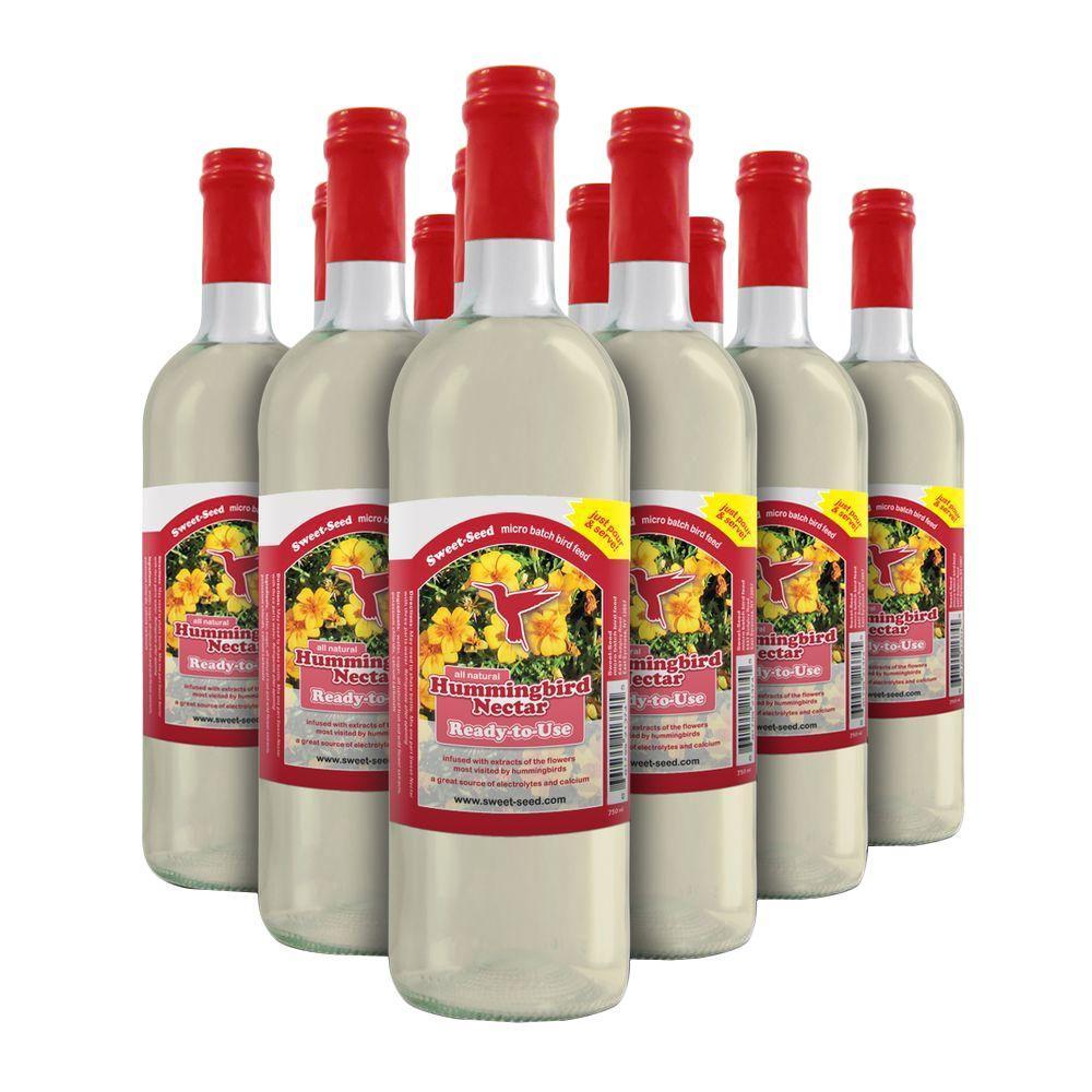 750 ml Sweet-Nectar Premium Ready-to-Use Hummingbird Nectar/Food (12-Pack)