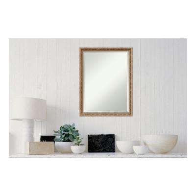 Fluted Champagne Wood 21 in. x 27 in. Traditional Framed Decorative Wall Mirror