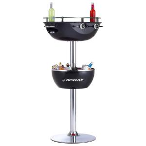 2-in-1 Black Foosball Table and Ice Bucket by