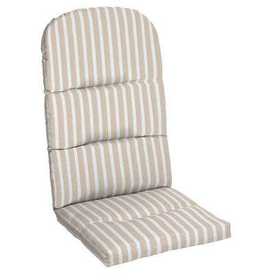20.5 x 18 Sunbrella Shore Linen Outdoor Adirondack Chair Cushion