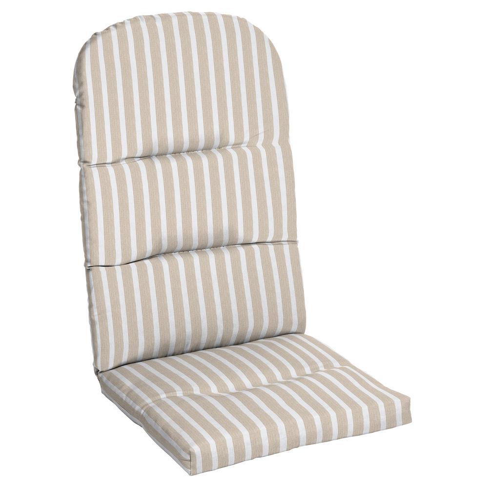 20.5 x 49 Sunbrella Shore Linen Outdoor Adirondack Chair Cushion