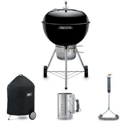 "Original Premium 22"" Kettle Grill Combo with Grill Brush, Cover, and Chimney Charcoal Starter"