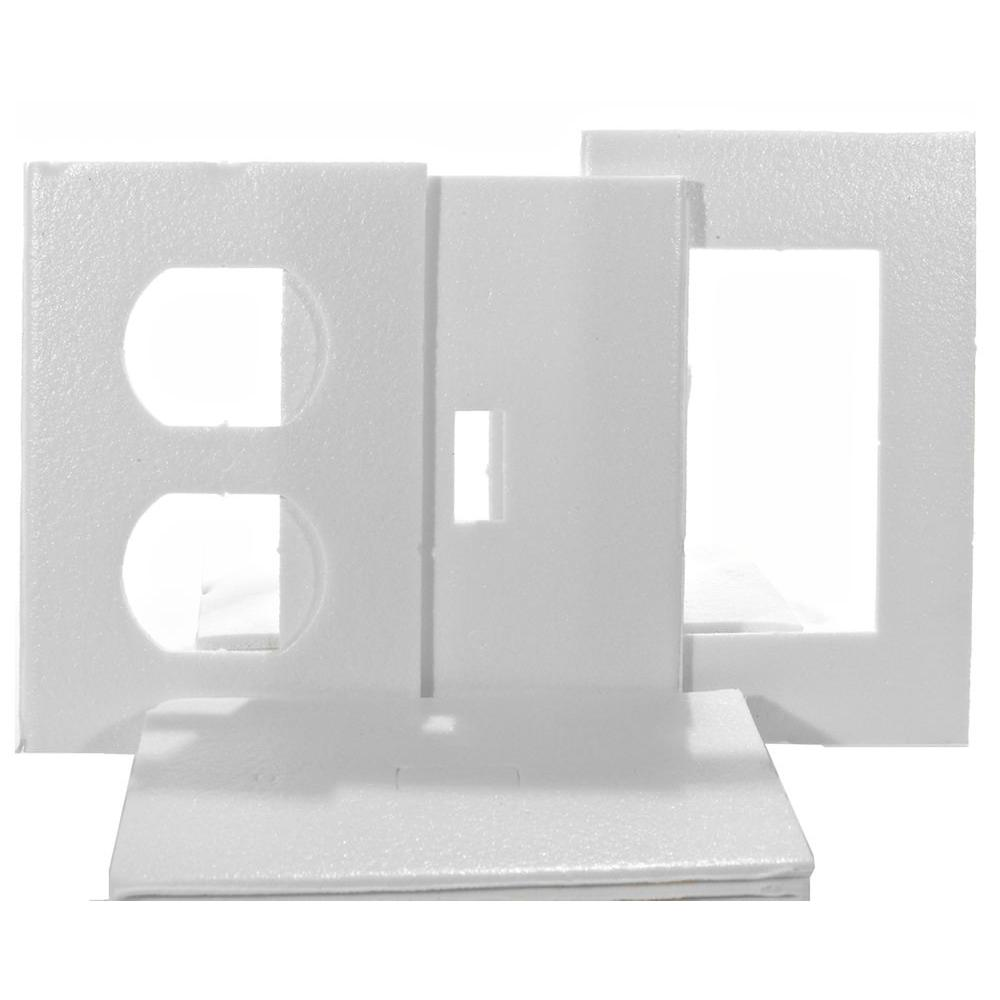Frost King 1 Gang Socket Switch and Deco Wall Plate (14-Pack)