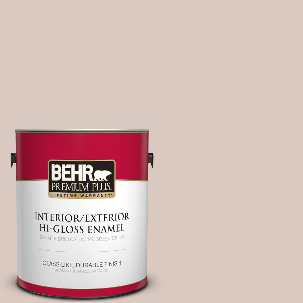 1 gal. #PPU2-06 Wisp of Mauve Hi-Gloss Enamel Interior/Exterior Paint