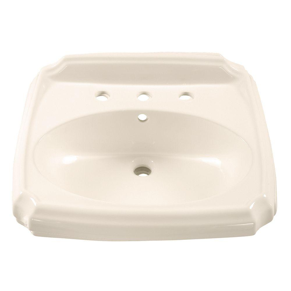 American Standard Williamsburg 5-1/2 in. Pedestal Sink Basin in Linen-DISCONTINUED