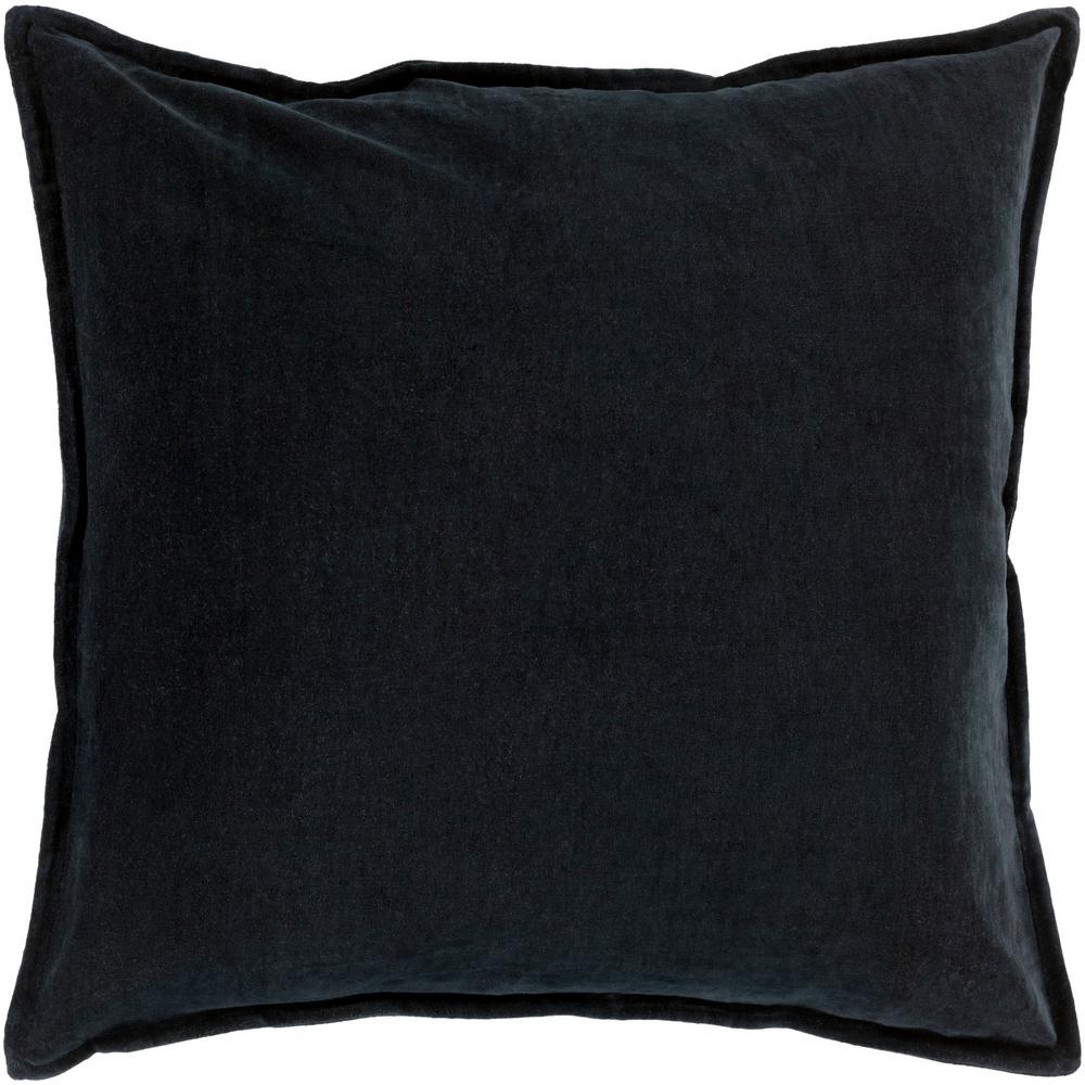 ArtisticWeavers Artistic Weavers Velizh Black Solid Polyester 22 in. x 22 in. Throw Pillow
