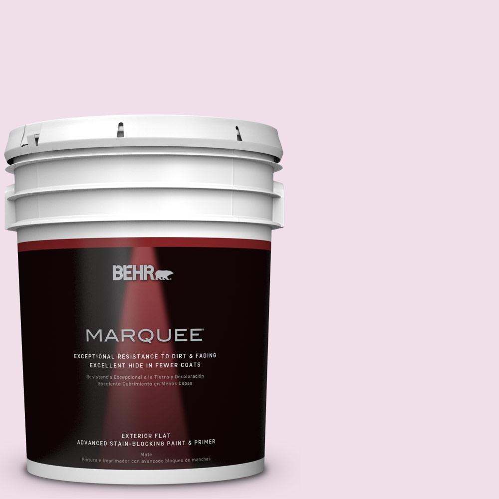 BEHR MARQUEE 5-gal. #M120-1 Pink Proposal Flat Exterior Paint
